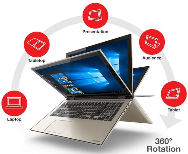 Toshiba Satellite Fusion 15 L55W-C5153 Best Convertible Laptop Under $1000