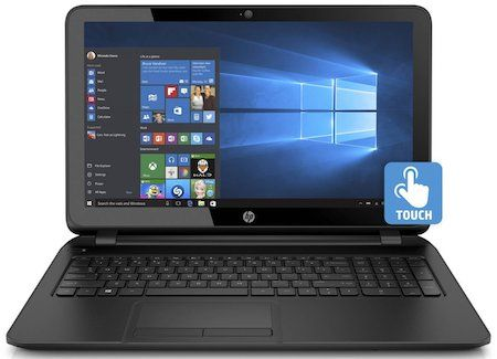 HP 15-F222WM 15.6 Touchscreen Laptop - best all-purpose windows laptop under 300 dollars