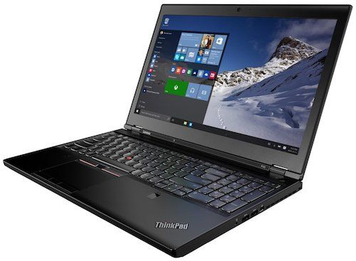 Lenovo ThinkPad P50 - best laptop for solidworks and autocad