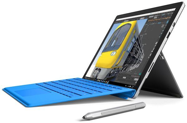 Microsoft Surface Pro 4 - best laptops for photoshop with pen