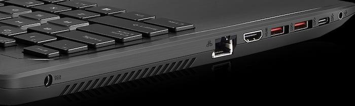 Asus ROG GL553VD Ports & Slots
