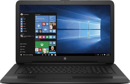 HP 17-X115DX lightweight 17 inch Laptop