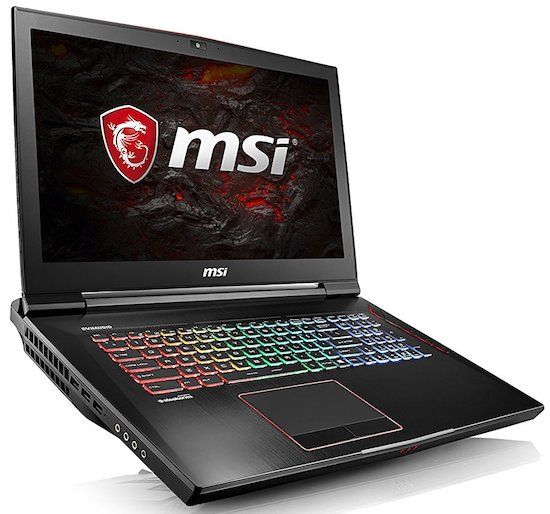 MSI GT73VR TITAN 17-Inch Extreme 4K Video Editing Laptop