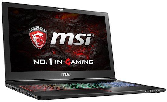 MSI VR Ready GS63VR - best laptops for video editing