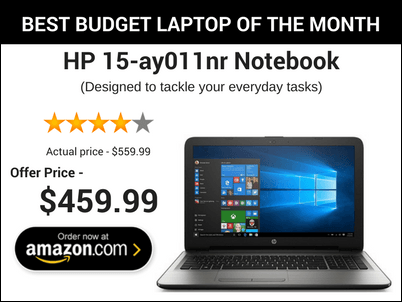 best budget laptop of the month