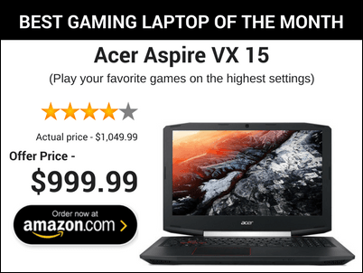 best gaming laptop of the month