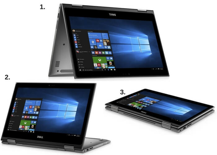 Dell Inspiron 13 5000 Series 2-in-1 Different Modes