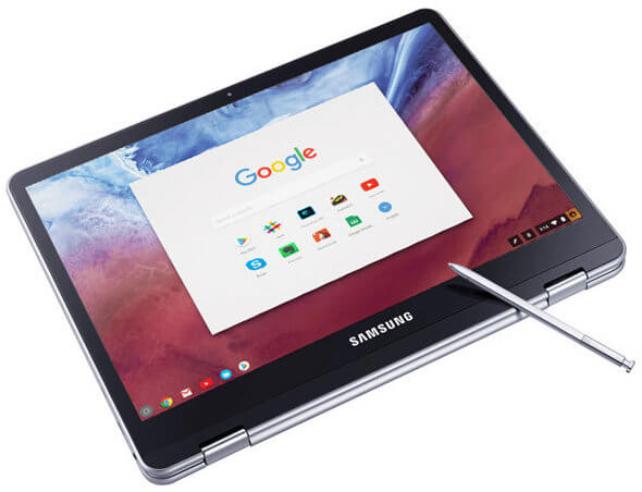 Samsung Chromebook Plus Tablet Mode and Stylus