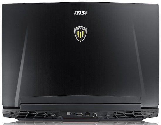 MSI WT72 6QL Workstation Laptop Exterior