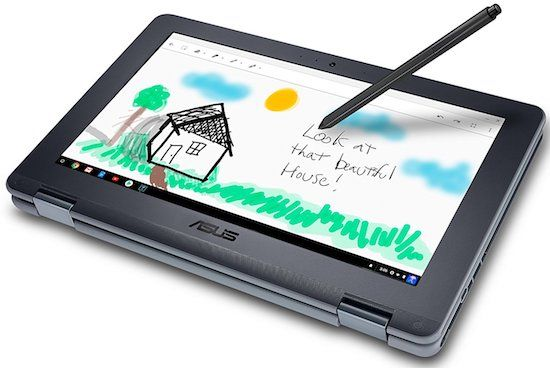 ASUS Chromebook Flip - an affordable convertible laptop for college with stylus