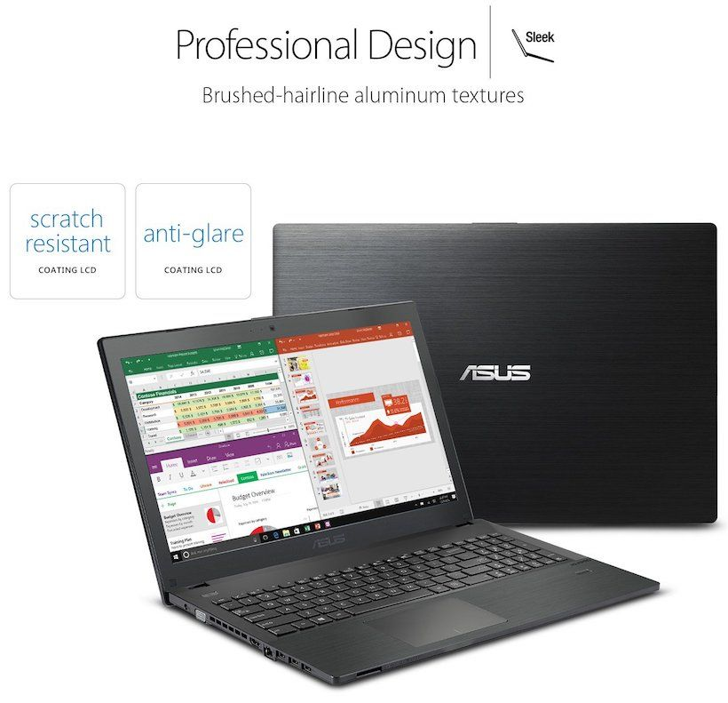 ASUS P-Series P2540UA-AB51 Business Laptop - Design and Build Quality