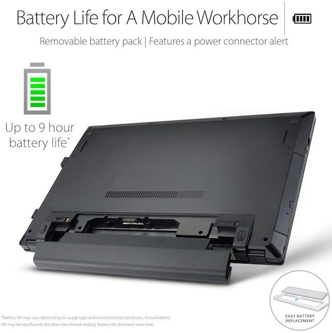 ASUS P2540UA-AB51 15.6 Inch Laptop - Battery Life