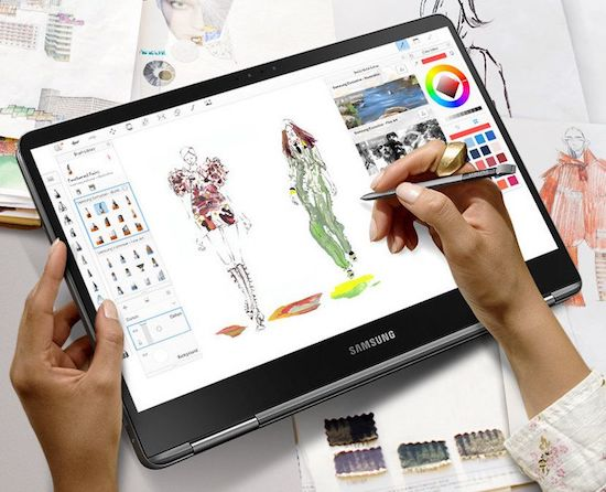 Samsung Notebook 9 Pro 15 with S Pen for designing