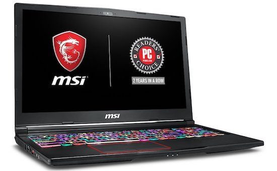 MSI VR Ready GE63 Raider - best laptops for video editing