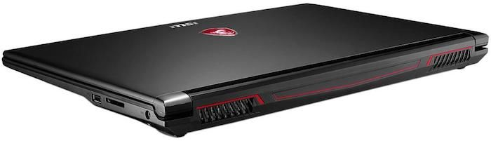 MSI GL62M 7REX Gaming Laptop - Vents for Efficient Cooling