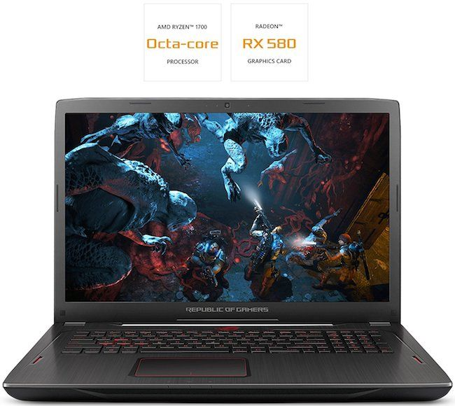 ASUS ROG Strix GL702ZC Gaming Notebook - Best Gaming Laptops Under 1500 Dollars