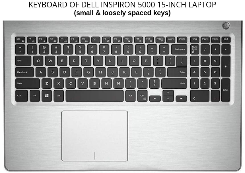 14 Inch Laptop Keyboard Comparison with Keyboard of Dell Inspiron 5000 15 Inch Laptop