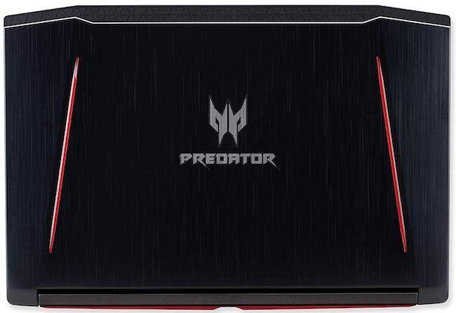 Acer Predator Helios 300 - Lid design