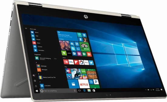 "HP Pavilion x360 15"" - best convertible laptop under $500"