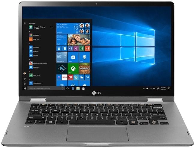 LG Gram 2-in-1 in standard position