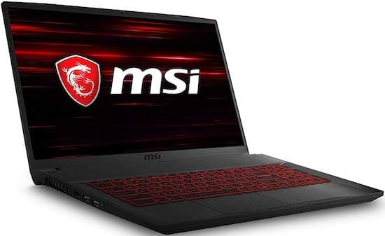 MSI GF75 17-Inch gaming laptop under 800 dollars