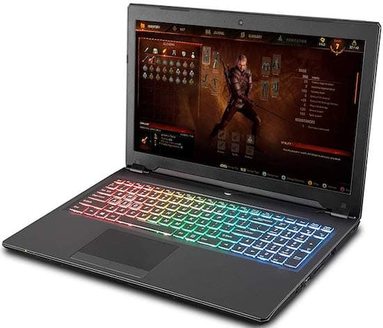 "Sager NP8957 15"" - best gaming laptops under 1500 dollars"