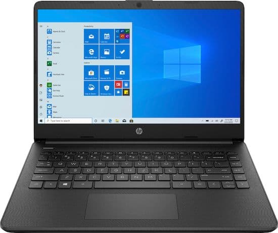 HP 14-fq0013dx 14-inch Touchscreen Laptop - best all-purpose windows laptop under 300 dollars