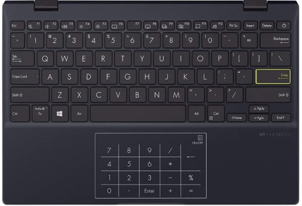 Backlit keyboard and touchpad on 11 inch Asus L210MA netbook