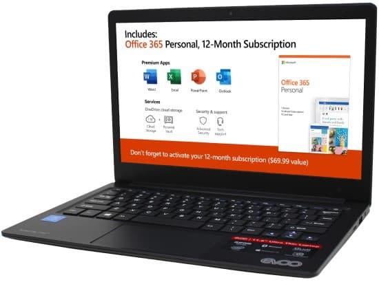 EVOO TEV-C-116 11-inch Laptop - best cheap windows 10 laptop under $100