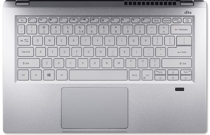 2021 Acer Swift 3 (AMD) Review of Backlit Keyboard and Trackpad