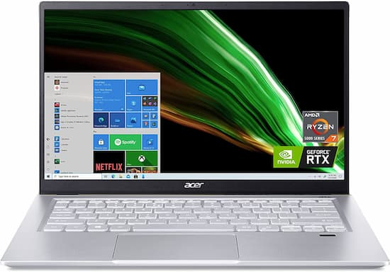 Acer Swift X - Best performance notebook under $1000 for content creation